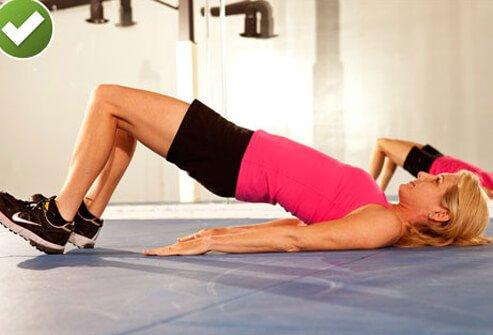 پل زدن عضلات سرینی